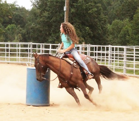 Barrel racing pic 1