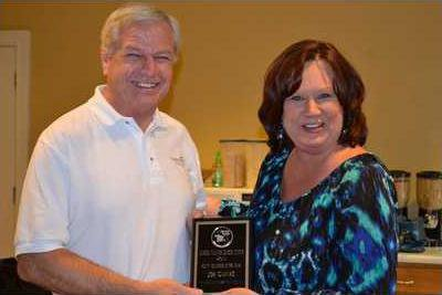 2ERK 602 Pastor Joe Gaines  Volunteer of the Year  with Semior Center Director  Dawn Pruett