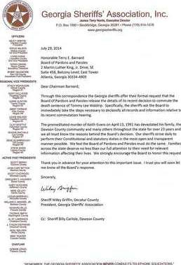 K7UM Sheriff Griffin Letter to P P