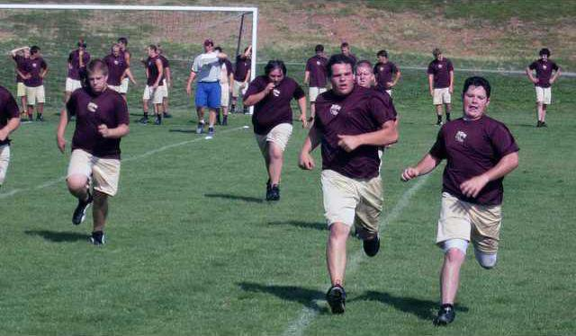 Summer Fball Practice pic