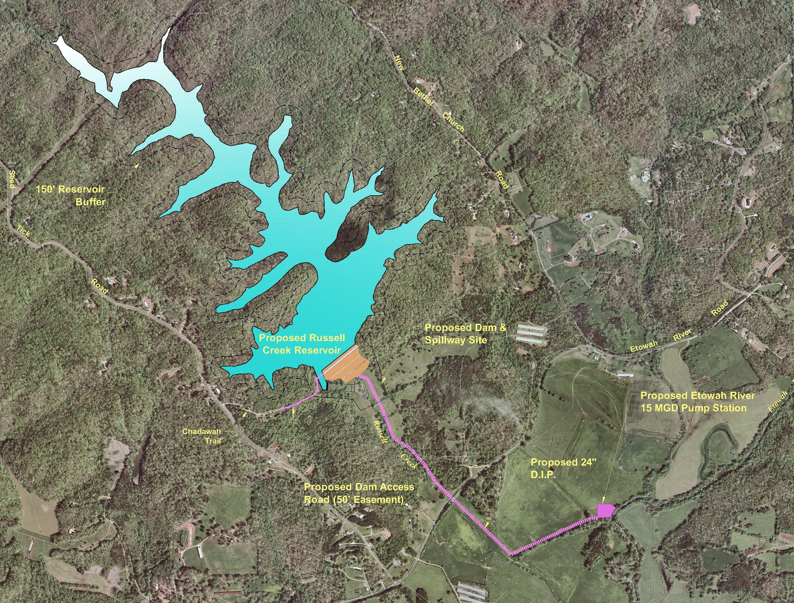 Etowah Reservoir map