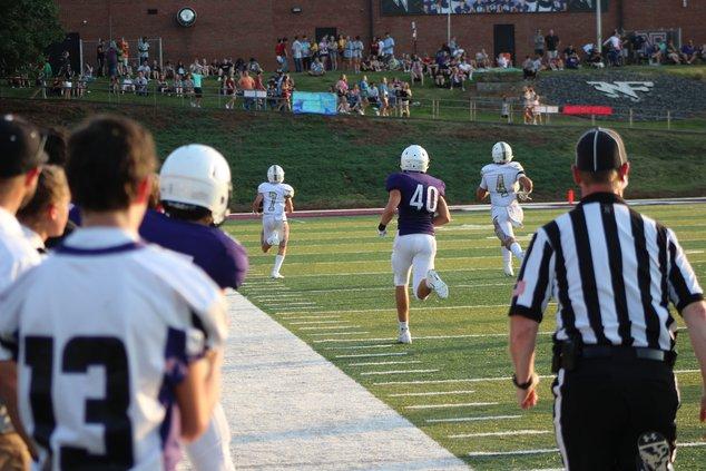 Braedon Hubbard returns an interception 89-yards for a touchdown